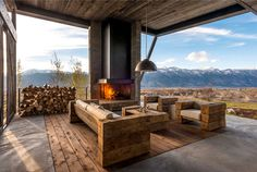 Rustic Luxury Mountain House - #outdoor, #architecture, #house, #landscaping, outdoor, architecture