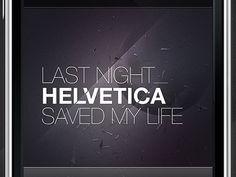 Dribbble - Helvetica Playoff by Tobias van Schneider #helvetica