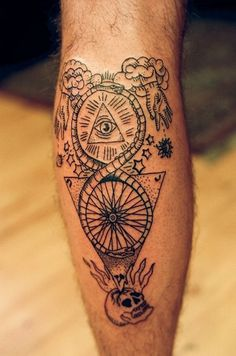 All sizes | East River Tattoos | Flickr - Photo Sharing! #skull #tattoo #bike