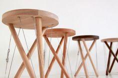 Snelson Stool by Sam Weller #chair #minimal #tool