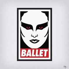 Obey the Swan | Flickr - Photo Sharing! #swan #ballet #black #poster #obey