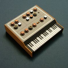 Analogue Miniature 7 #miniatures #synth #craft #art #paper