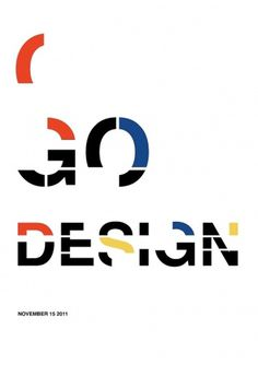 Stephany Gill | Go Design #gill #primary #design #stephany #de #simple #stijl #bauhaus #typography