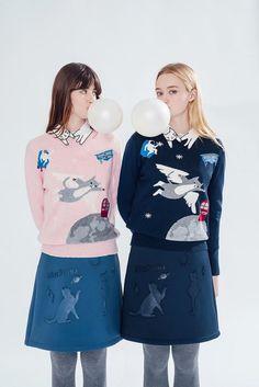 #cat #fashion #collar #skirt #sweater