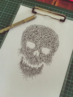 IMG_5362 #line #illustration #art #skull #organic