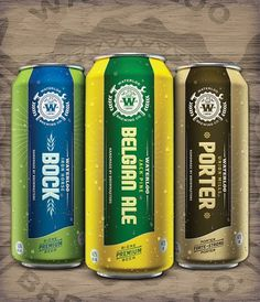Waterloo Cans #packaging #beer #can #label
