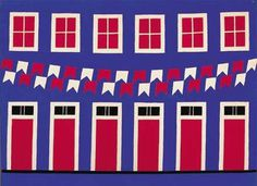 alfredo-volpi-fachada_festiva #door #windows #painting