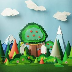 Teasers for Papercraft Campaign on Behance #paper