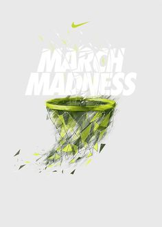 NIKE X NCAA on Behance #bastekball #march #madness #nike #type #net #typography