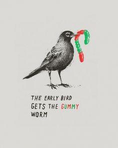Early Bird | Flickr - Photo Sharing! #early #laser #bird #illustration #bread