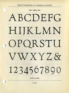 Forum type specimen. #type #specimen #typography