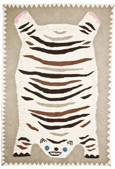GENERAL PRACTITIONERS - @finelittleday.com #primitive #graphic #weaving #rug #tiger