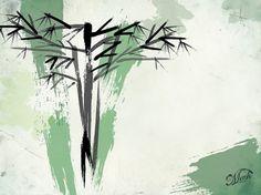 Mwh.: #bamboo #wallpaper #green