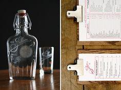 saloon_flask.jpg (675×506) #glasses #whiskey #branding #menu #restaurant #engraving #bar #collateral #saloon