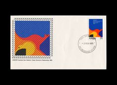 Design: Garry Emery Studio: Emery Vincent Associates Date: 1983 — Stamp and first day cover commemorating a closer economic relationship b