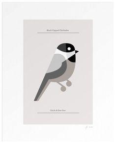 Lumadessa | Black-Capped Chickadee - Silver (Dot Print)