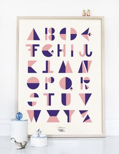 #nordic #design #graphic #illustration #danish #letters #simple #nordicliving #living #interior #kids #room #poster #alphabet #flip #rosa
