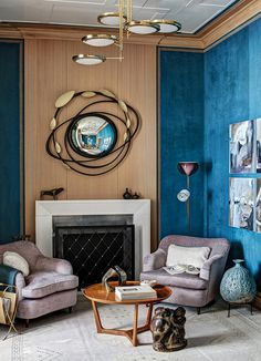 Painting Room With Hues Of Blue - www.homeworlddesign. com (11) #design #decor #blue #room #decoration