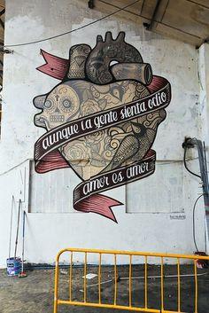 Amor es Amor at Street Anatomy #amor #madrid #graffiti #art #boamistura