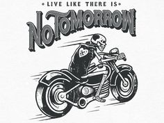 Tumblr #skull #motorcycle #illustration