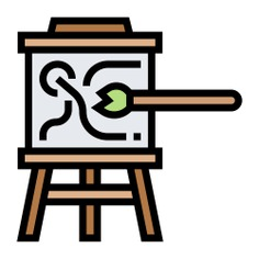 See more icon inspiration related to paint, art, artist, board, art and design, Tools and utensils, drawing board, edit tools, painting brush, paint brush, painter, brushes, painting, drawing and brush on Flaticon.