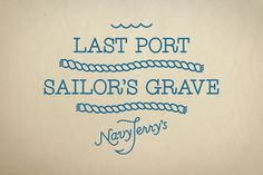 Navy Jerry's on Behance #logo #illustration #monoline #typography
