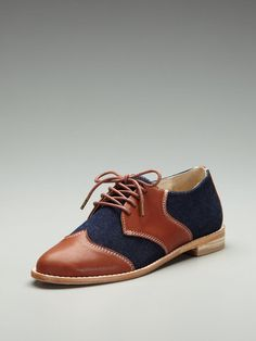 F Troupe Stitch Detail Saddle Shoe #fashion #shoe #oxford