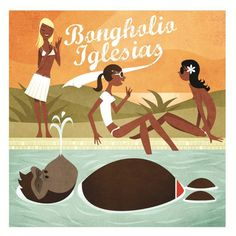 Bongholio Iglesias - finest gorilla grooves. All illustrations by Jojo Ensslin www.jojoensslin.de               #artwork #cover #illustration #gorilla #records #sample #music #typo #beats