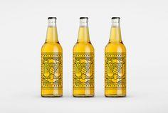 Goldhawk Ale by Don't Try Studio #logotype #logo #mark #gold #bottle #labeling