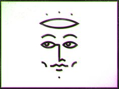 line, illustration, face, 3d