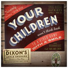 DIXON'S APPLE ORCHARD Jesse Arneson #fruit #advertising #illustration #vintage #type