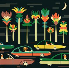 undefined #illustration #cars #iv #orlov #flowers