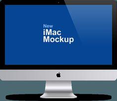 Free iMac 27-Inch Mockup PSD