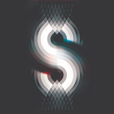 "Andy Gilmore ""S"" crowquills.com #gilmore #andy #red #white #optical #illusion #design #graphic #illustration #grey #blue #typography"