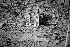 Jaw Dropping Pen and Ink Cityscapes That Seem to Sprawl into Infinity by Ben Sack #sculpture #art
