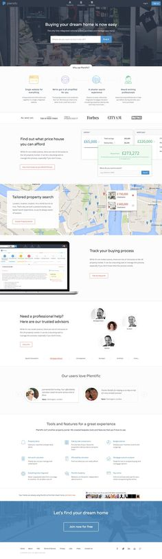 Plentific-landing-redesign #house #map #clean #real #mortgage #condo #minimalist #web #estate