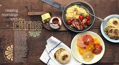 Portfolio / Layout / Design Test II #design #magazine #layout #food #citrus #breakfast
