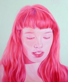Jen Mann | PICDIT #pink #color #portrait #painting #art