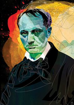 The New Republic - Alvaro Tapia Hidalgo #republic #new #tapia #the #illustration #baudelaire #hidalgo #alvaro
