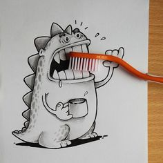 Doodles act together with real life Objects #doodle #drawing #art