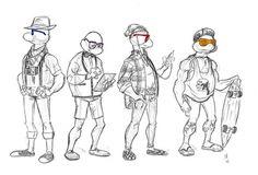 teenage mutant hipster turtles by ~rivrav on deviantART #rivrav #hipster #mutant #turtles #drawing #teenage