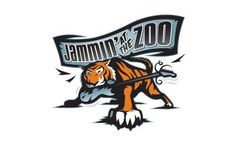 Jammin' at the Zoo event logo #guitar #branding #zoo #jams #tiger