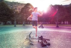The Levitator : Self-Portraits In Dance Poses by Mickael Jou