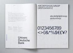 Deutsche Bank - Studio 2br #branding #identity #guidelines #brand book