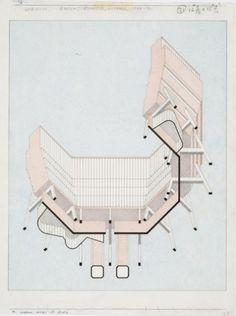 James Stirling drawings at Tate Britain|Architecture Today #james #stirling #architectural #drawing