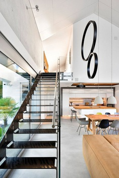 Modern Nurnberg House with Open Living Area, Fireplace and Glass Facade 5