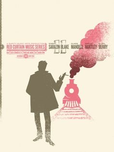 Dan Judge #red #design #curtain #dan #illustration #series #poster #music #judge