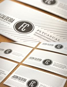 FlyCasual #business #card #letterpress #logo #layout