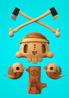 Dead Wood: 3D Illustrations by Teodoru Badiu   Inspiration Grid   Design Inspiration #dead #3d #illustrations #wood