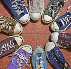 FFFFOUND! | Things Organized Neatly #shoes #converse